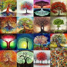 100% diy 5d полная алмазная живопись сезоны дерево Вышивка крестом