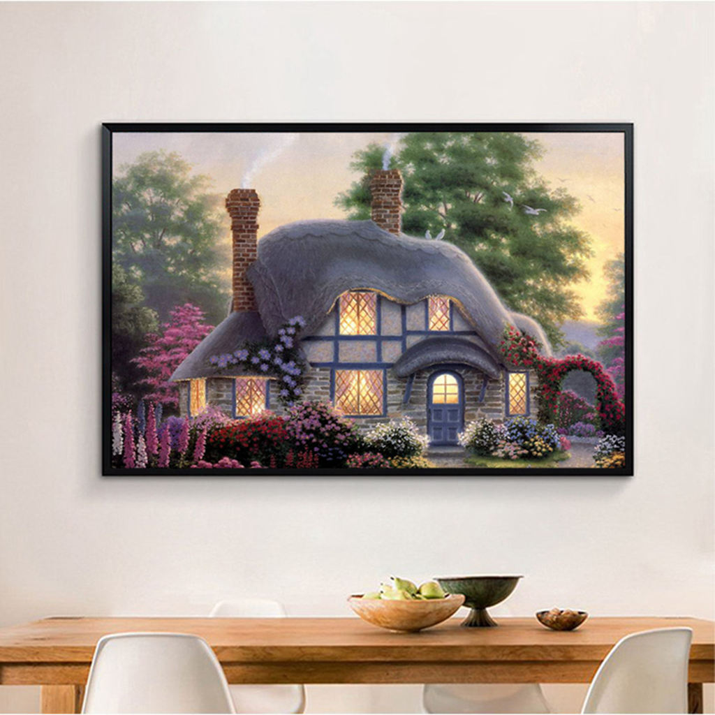Image 2 - Hot Diamond Painting Cross Stitch Scenery,30*40cm Full Square Diamond,Diy,Diamond Embroidery Cottage,5D,Diamond Decor Gift-in Painting & Calligraphy from Home & Garden