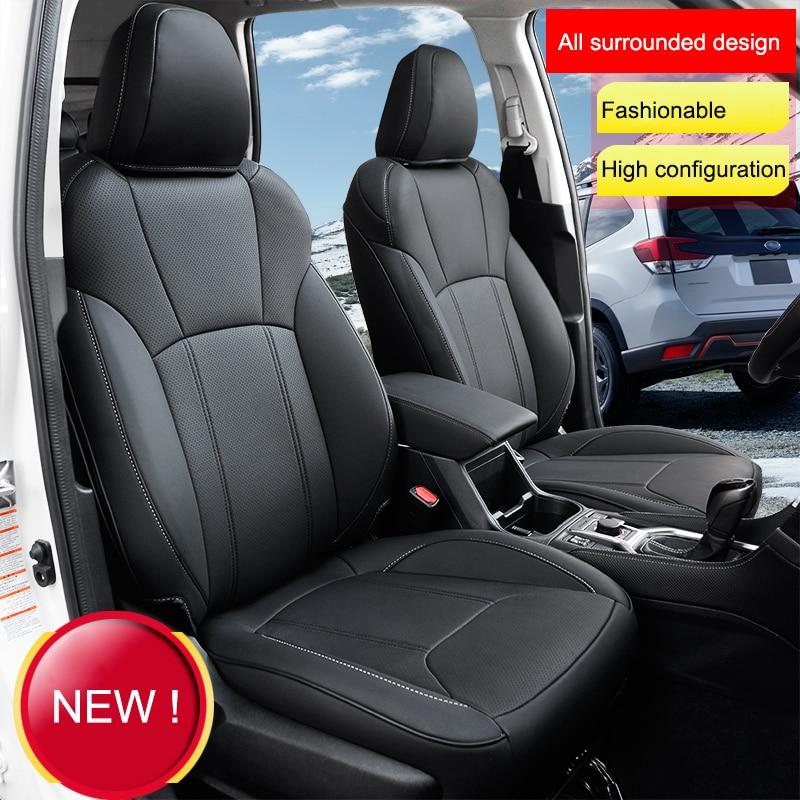 QHCP housse de siège de voiture en cuir microfibre coussin de siège automobile confortable pour Subaru Forester 2019 accessoires de style de voiture