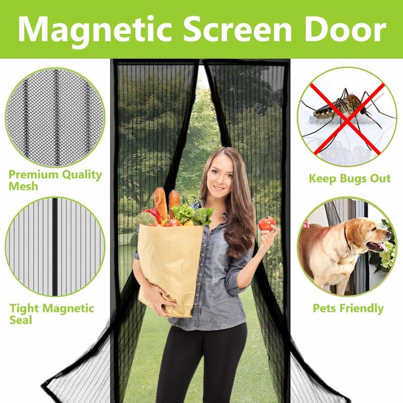 Magic Door Magnetic Mesh Curtain Snap Hands Free Insect Bug Fly Mosquito Screen
