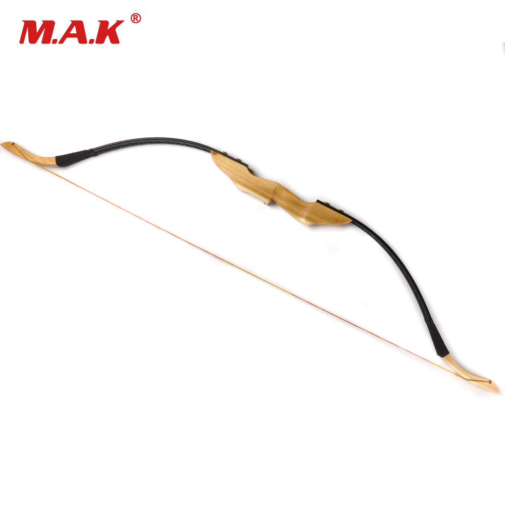 30/40 Lbs Mongolian Recurve Bow With Wooden Handle And Rest For Right/Left Hand User Archery Hunting/Shooting