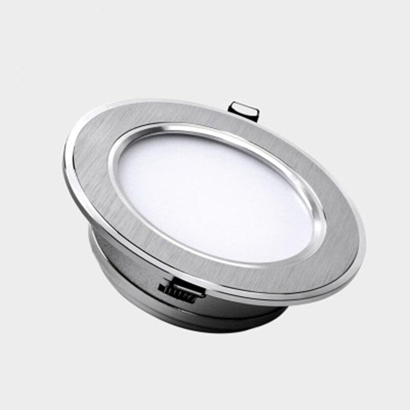 Светодиодный светильник лампа 5 Вт 7 Вт 9 Вт 12 Вт 15 Вт 18 Вт 230 В/110 В потолочные встраиваемые светильники круглые светодиодные панели Бесплатна...