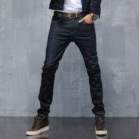 2016 New Fashion Mens Classic Stretch Denim Jeans Regular Fit Black Colour Latest Design Elastic Jean