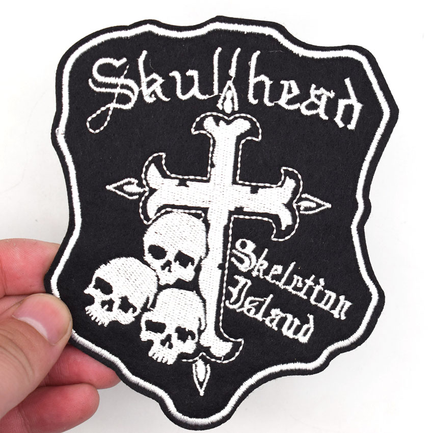 Prayer Cross Biker Iron On Sew on Badge Applique Patch For Sewing