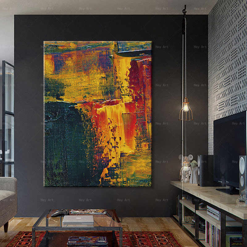 Abstract canvas painting posters and print modern decor wall art pictures for living room bedroom
