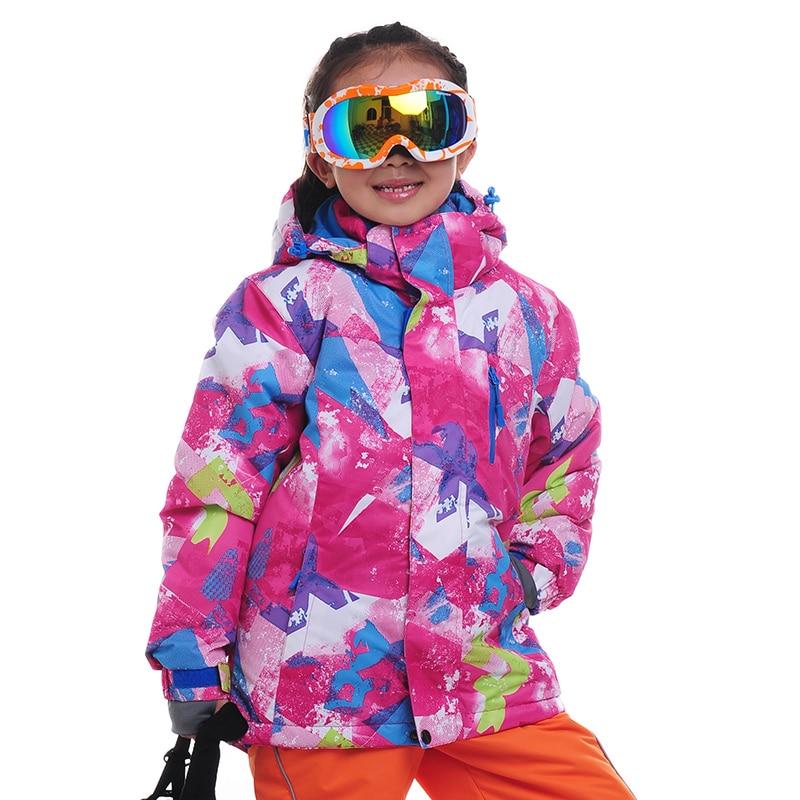 ФОТО Children Waterproof Snowboard Jackets Outdoor Skiing Jackets Boy Girl Thick Clothes Keep Warm Coat Windproof Kid Ski Jacket CJ17