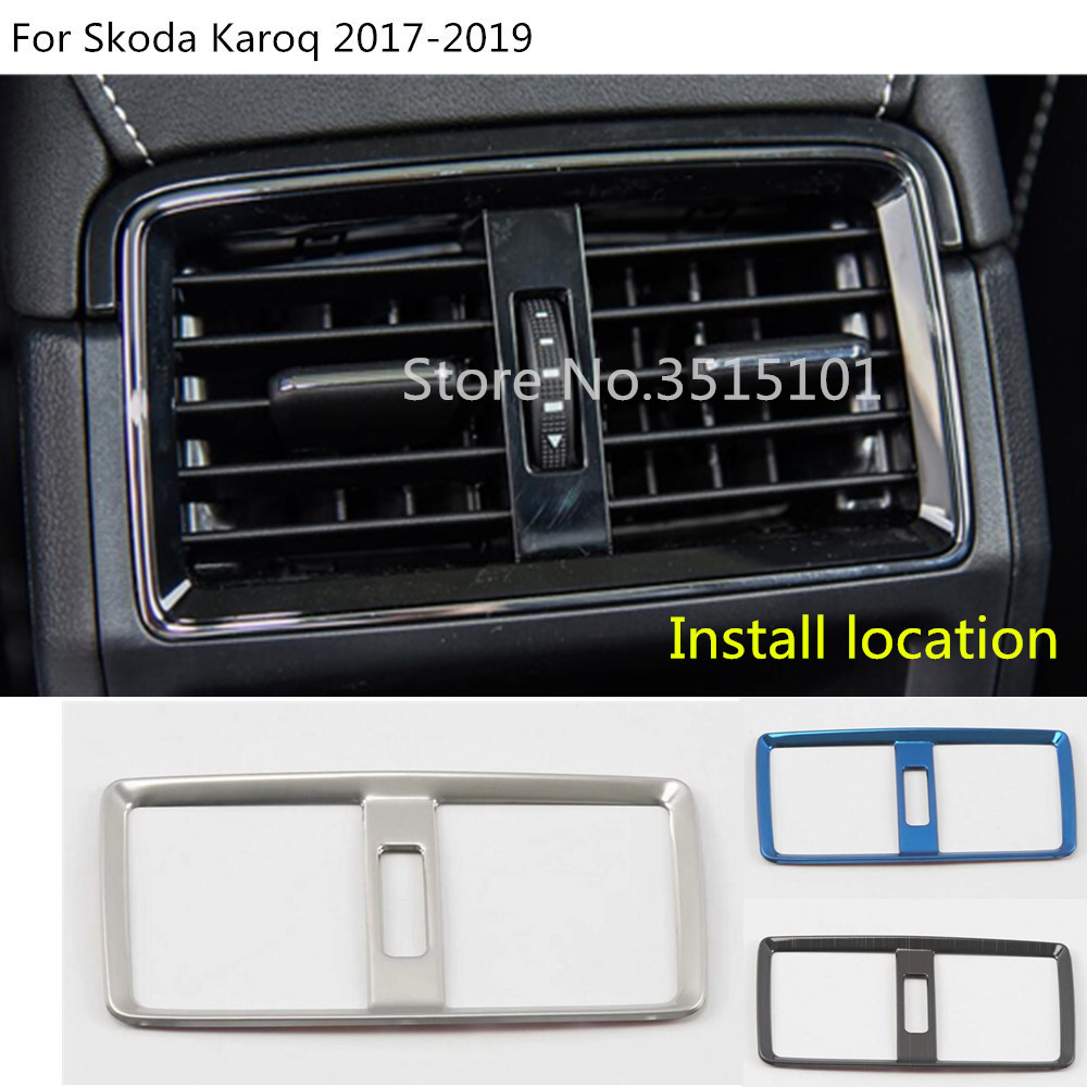 For Karoq 2017-2020 Stainless Steel Air Condition Adjust Cover 1pcs Car Stytle Accessoies