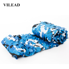 VILEAD 2x3M 2x4M Wide Blue Sun Shelter Camo Netting Hunting Tent Shade Net Car Awning Camouflage Nets for Camping