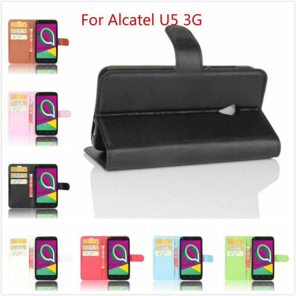 Для Alcatel U5 3G случае 5.0 дюймов PU кожаный чехол бумажник с держателем карты Стенд телефона чехол для Alcatel U5 3G чехол Коке Fundas
