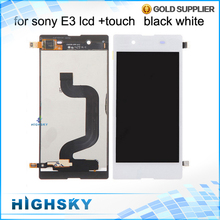Tested Replacement Display For Sony Xperia E3 LCD D2203 D2206 Screen With Touch Black White AAA Quality 1 Piece Free Shipping