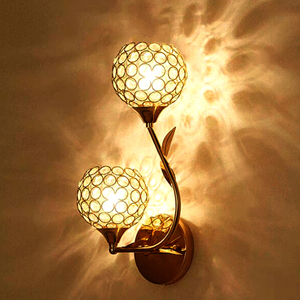 Image 3 - แฟชั่นคริสตัลคริสตัลLedห้องนอนห้องนอนห้องนอนบันไดโคมไฟติดผนังในร่ม