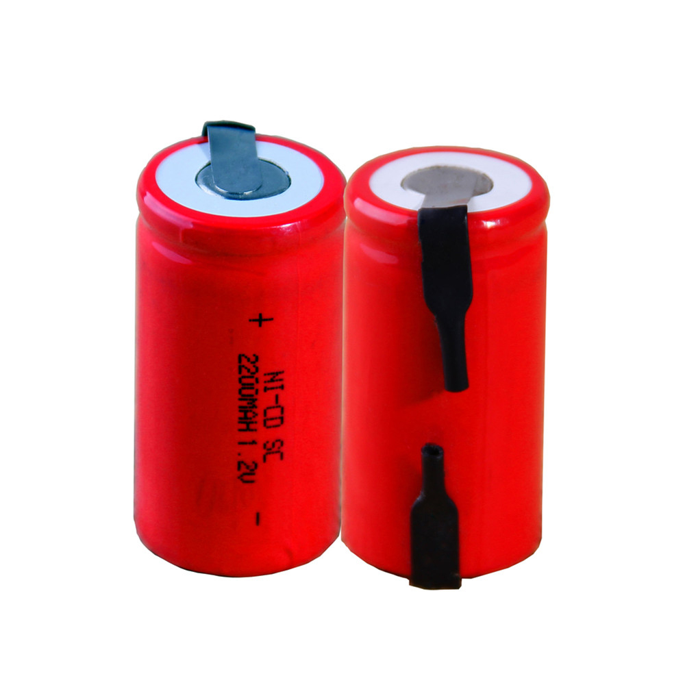 2 pcs SC 2200mah 1.2v battery NICD rechargeable batteries for emergency light toy equipment power 4.25cm*2.2cm for power tools