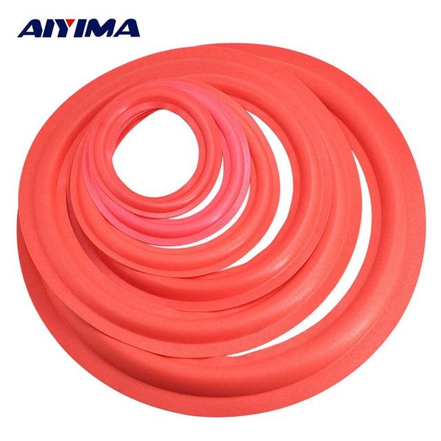 AIYIMA 2Pcs Speaker Rubber Surround 4/5/6.5/8/10 Inch Speakers Repair Parts Foam Edge Sponge DIY For Speaker Accessories