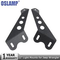 Oslamp 22 Straight Led Light Bar Hood Mounts Led Work Light Bar Mounting Brackets For Jeep