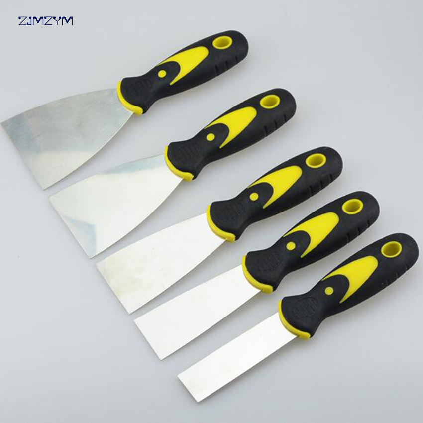 1 inch Putty Knife 1pcs Scraper Blade Scraper Shovel Carbon Steel Plastic Handle Wall Plastering Knife Hand Tool 195x25mm