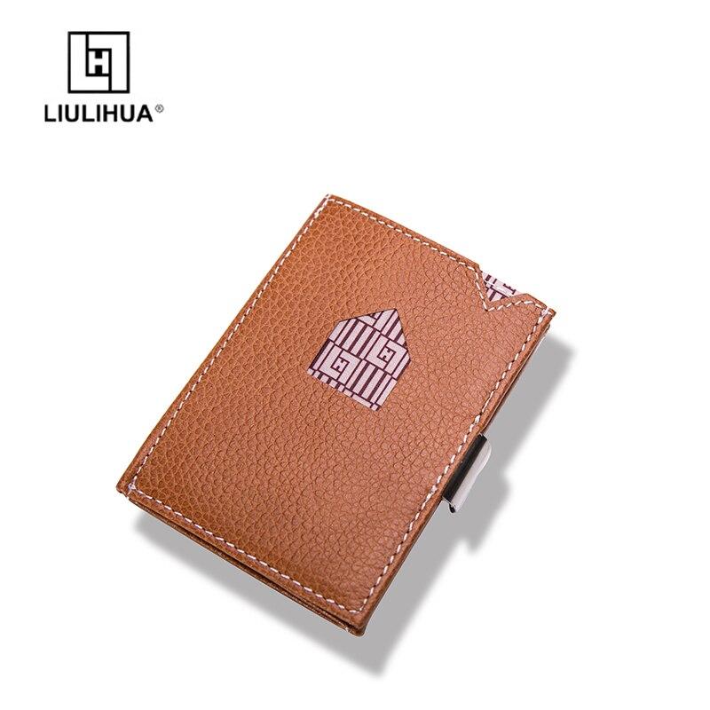 LLH 2018 nouvelle mode en cuir véritable hommes portefeuille homme peau de vache petite ID porte-carte de crédit mâle multifonction mince Design sac à main