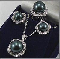 Women S Cospay Women S Hair Full Wigs Fashion Jewelry Silver Black Shell Pearl Pendant Earring