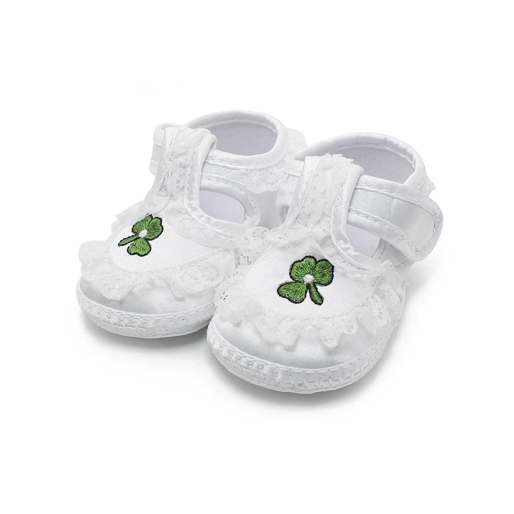 Чисти бели обувки за новородено Меки - Бебешки обувки - Снимка 3