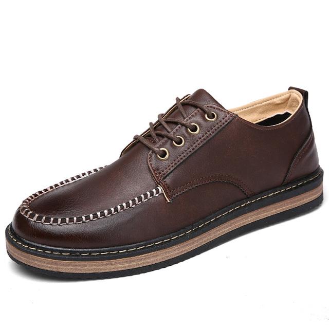 Brand Big Sizes Genuine Leather Fashion Men Shoes Handmade Summer Brand High Quality Men Flats Shoes