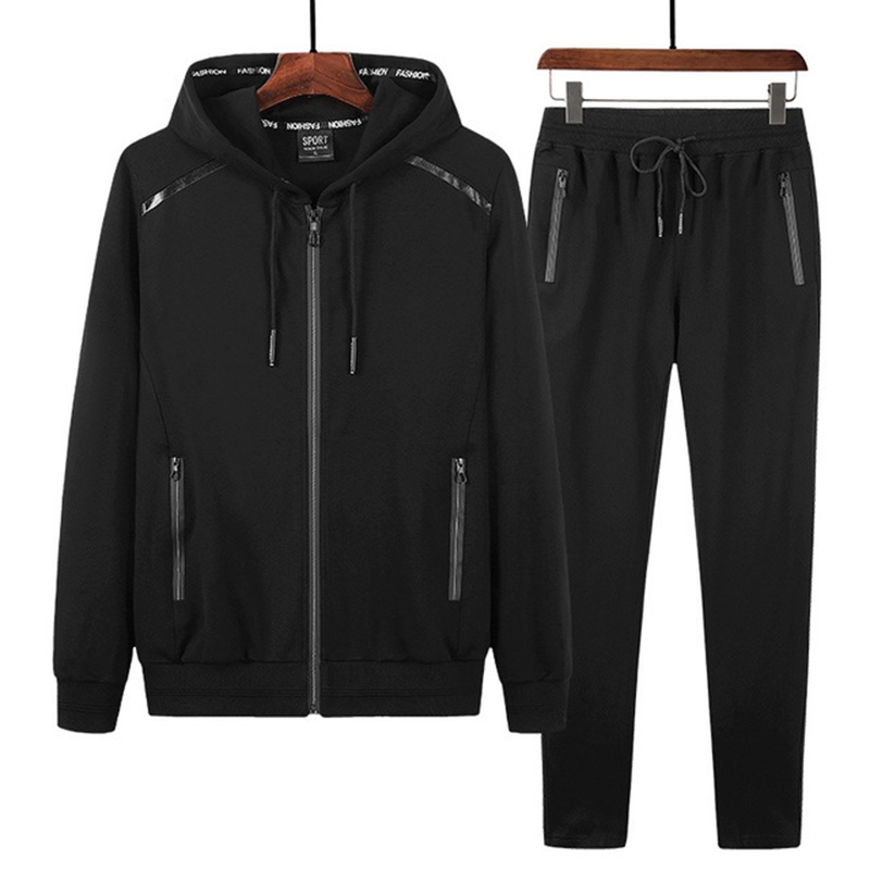 Image 2 - Spring and Autumn Sports Suit Plus size Trade Sportswear Men's Running Long Sleeve Men's Sets 9XL 8XL 7XL-in Men's Sets from Men's Clothing