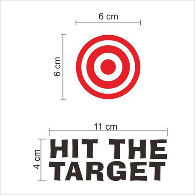 Hit The Target Waterproof Funny Toilet Sticker Bathroom Personality Toilet Seat Sign Reminder Quote Boys Potty Training | Happy Baby Mama