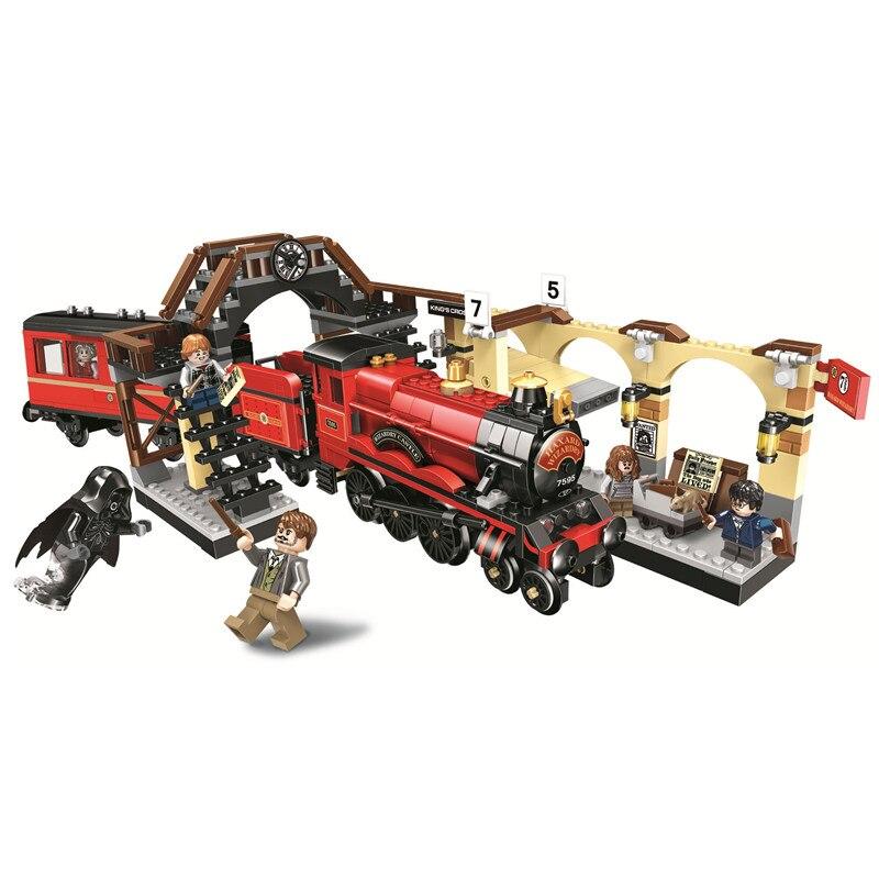El Expreso de Hogwarts tren Harry bloques de construcción de ladrillo establece clásico película Potter modelo juguetes de los niños regalo Compatible Legoe