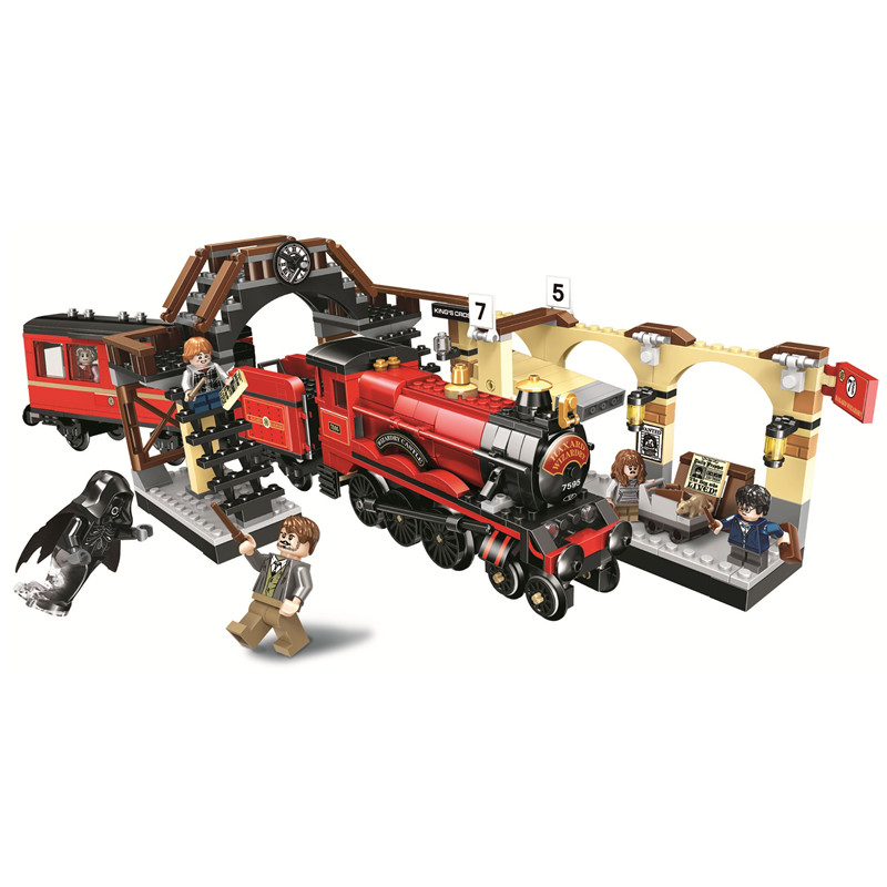 Hogwarts Express train Harry Building Blocks Kit Brick Sets Classic Movie Potter Model Kids Toys Gift Compatible Legoe