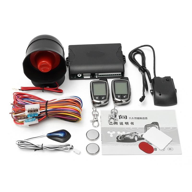 ФОТО 12V Car Alarm System 2 Way Vehicle Burglar Alarm Security Protection System with 2 Remote Control Auto Burglar Alarm System