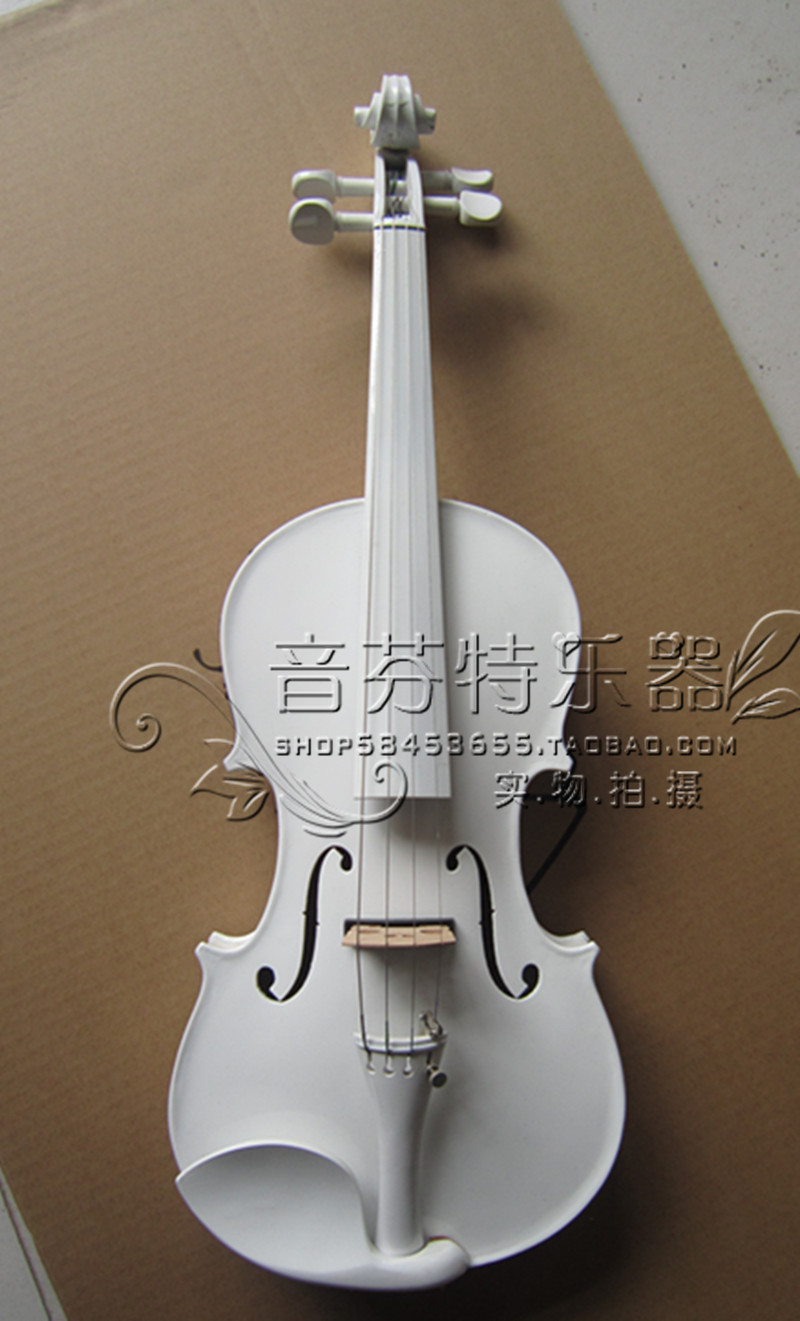White box type electric violin electric box solid wood white full dual illusion money box dream box money from empty box wonder box magic tricks props comedy mentalism gimmick