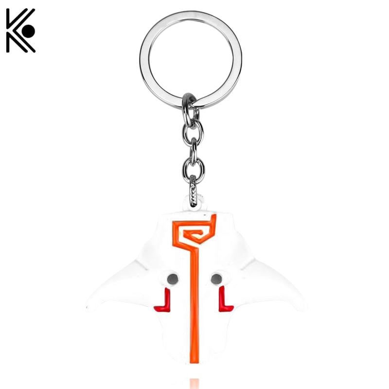 free shipping Hot Online Game Dota 2 Juggernaut Yurnero Jugg Mask key chains keyrings porte clef Pendant key ring for men