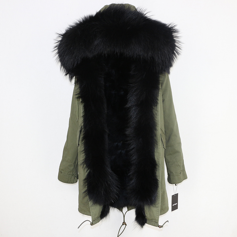 OFTBUY 2019 Winter Jacket Women Long Parka Real Fox Fur Coat Natural Raccoon Fur Collar Hood Thick Warm Streetwear Parkas New 71