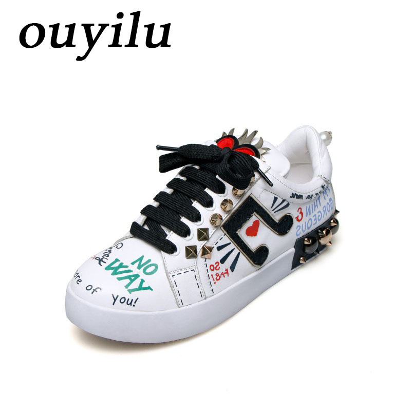 ouyilu 2018 Man Woman Brand Womens Sneakers Skateboarding Shoes Sport Shoes For Women Sneakers Comfortably breathable Anti-Slip msstor retro women men running shoes man brand summer breathable mesh sport shoes for woman outdoor athletic womens sneakers 46