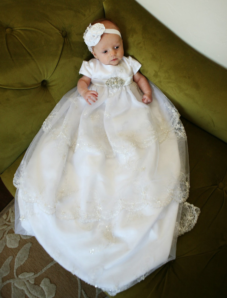 2016 Manual Noble Baptism Gown Floor Length 0 24 Month Christening ...
