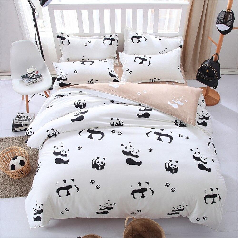 panda animal consolador juegos de cama de cama unids blanco negro de dibujos