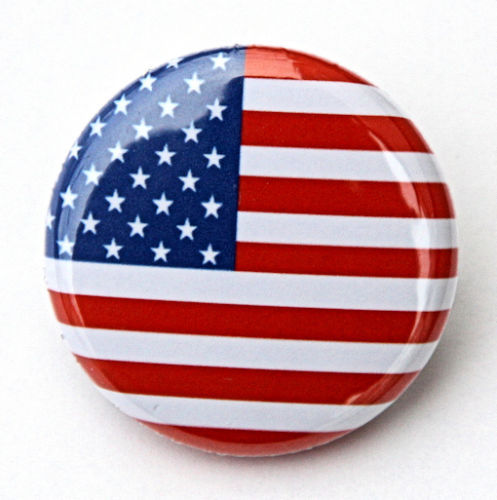 Low price custom flag badge Wholesale custom AMERICAN FLAG Button Badge top quality custom made usa flag badge pin in Badges from Home Garden