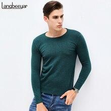 Новинка 2017 года осень-зима брендовая одежда свитер Для мужчин Мода o-образным вырезом Slim Fit Зимний пуловер Для мужчин высококачественный вязаный свитер Для мужчин