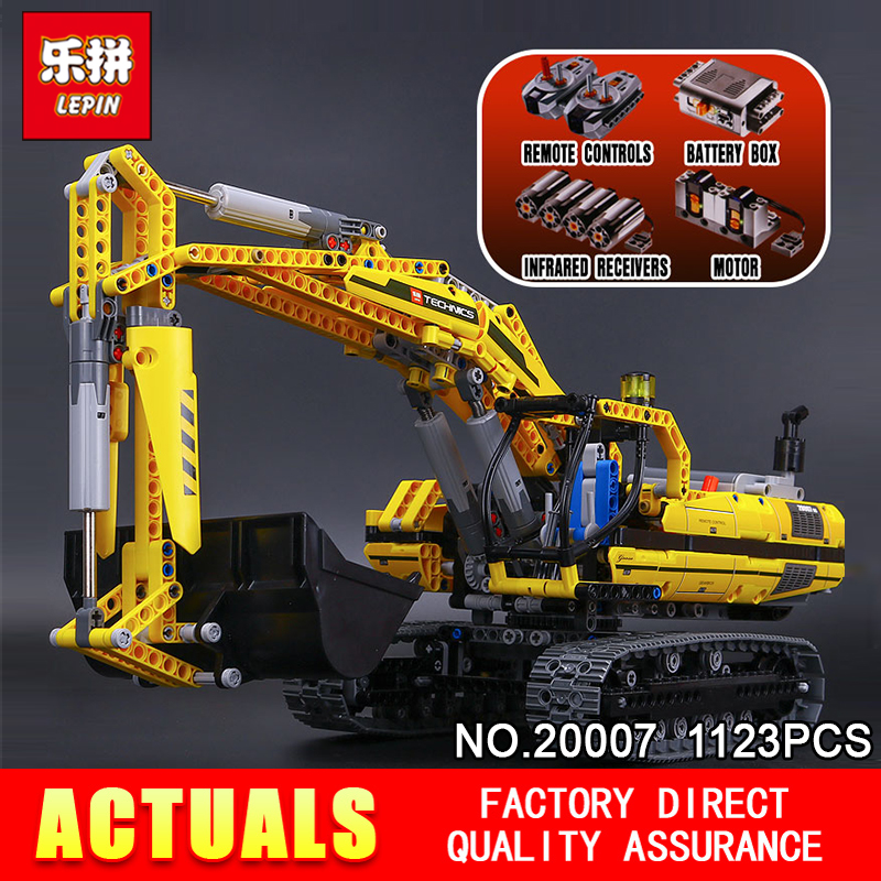 New LEPIN 20007 technic series 1123pcs excavator Model Building blocks Bricks Compatible Toy Christmas Gift 8043 Educational Car моноблок msi pro 20et 4bw 096ru black 9s6 aa8b11 096 intel celeron n3160 1 6 ghz 4096mb 1000gb dvd rw intel hd graphics 19 5 1600x900 touchscreen windows 10 home