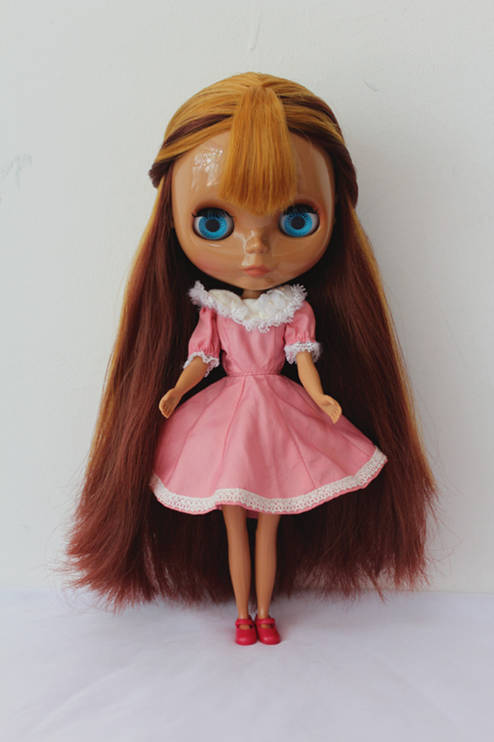 Free Shipping big discount RBL-168DIY Nude Blyth doll birthday gift for girl 4colour big eyes dolls with beautiful Hair cute toy free shipping bjd joint rbl 415j diy nude blyth doll birthday gift for girl 4 colour big eyes dolls with beautiful hair cute toy