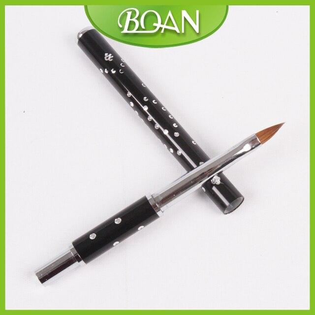Retail 1 Pc Metal Handle Acrylic Nail Brush Kolinsky Sable Brushes ...