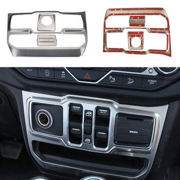JL1021S Central Control Panel Trim Bezel for jeep JL wrangler 2018+ car accessories auto products lantsun