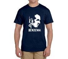 Karim Benzema face logo tee 100% cotton cool t shirts Mens o-neck fashion T-shirts fans gift 0216-18