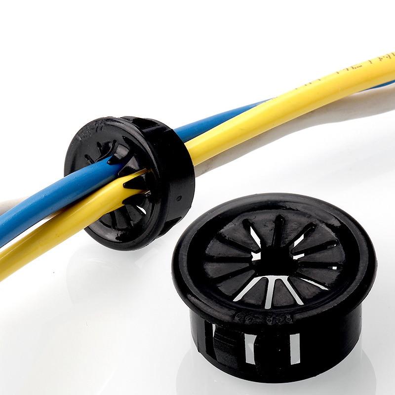 Diámetro de agujero de taladro 20Pcs 35 mm protección de alambre eléctrico de goma Ojal Junta