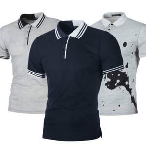 2d7d2321 hirigin Mens Slim Fit Short Sleeve 2018 Summer POLO Shirt