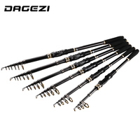 DAGEZI Ultralight Carbon Fiber Telescopic Fishing Rod 1 8M 2 1M 2 4M 2 7M 3