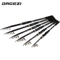 DAGEZI Ultralight Carbon Fiber Telescopic   Fishing     Rod   1.8M/2.1M/2.4M/2.7M 3.0M/3.6M Spinning   Rod   Saltwater   Fishing   Travel   Rod