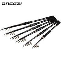 Dagezi超軽量カーボンファイバー伸縮釣りロッド1.8メートル/2.1メートル/2.4メートル/2.7メートル3.0メートル/3.6メートル釣り竿/塩水釣り旅行ロッ