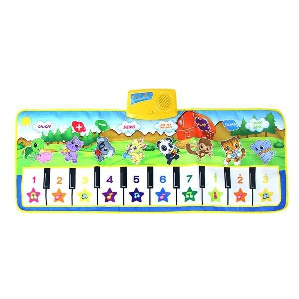 Piano Keyboard Dancing Mat Electronic Funny Animal Press Carpet Musical Blanket Baby Toys For Kids Toddler