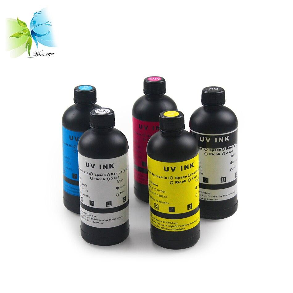 Winnerjet ультрафиолетовые чернила для УФ светодиодный планшетный струйный принтер для печатная УФ машина отверждаемые чернила для Epson DX5 DX7 печатающей головки