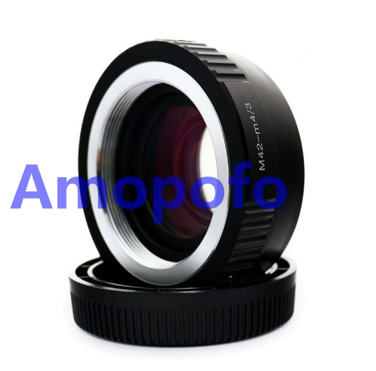 Amopofo M42-M4/3 Focal Reducer Speed Booster Adapter M42 screw mount Lens to for Olympus E-P1, E-P2, E-P3, E-PL1, E-PL2, E-PL3, pixco focal reducer speed booster lens adapter ring suit for canon ef lens to suit for micro 4 3 m4 3 camera gx7 e m5 e pl6