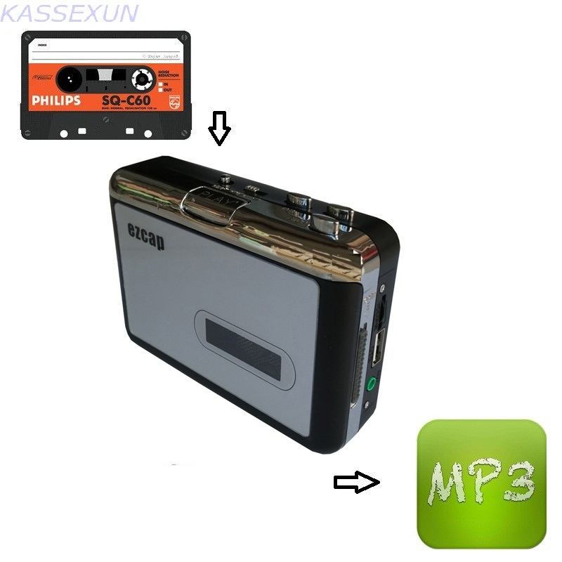 Cassette to usb disk converter, convert old cassette tape to mp3 save in USB Flash disk directly, no pc required, Free shipping